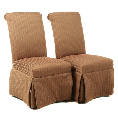 Pair of Upholstered Dining Chairs, Late 20th Century