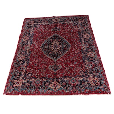 9'10 x 12'8 Hand-Knotted Persian Kerman Room Sized Rug