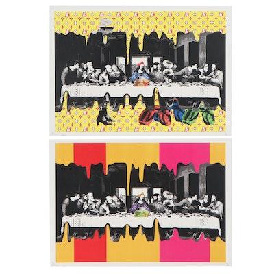 "Death NYC Pop Art Offset Lithographs Featuring Da Vinci's ""Last Supper"""