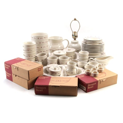 """Longaberger Pottery """"Woven Traditions"""" Dinnerware and Other Accessories"""