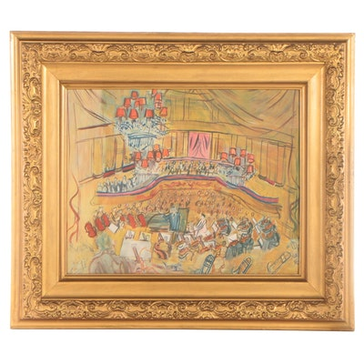 """Offset Lithograph after Raoul Dufy """"Le Grand Orchestre"""""""