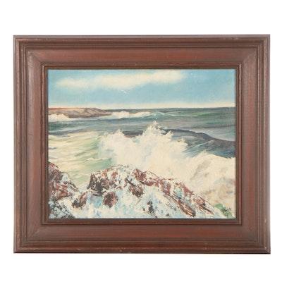Coastal Oil Painting, 1967