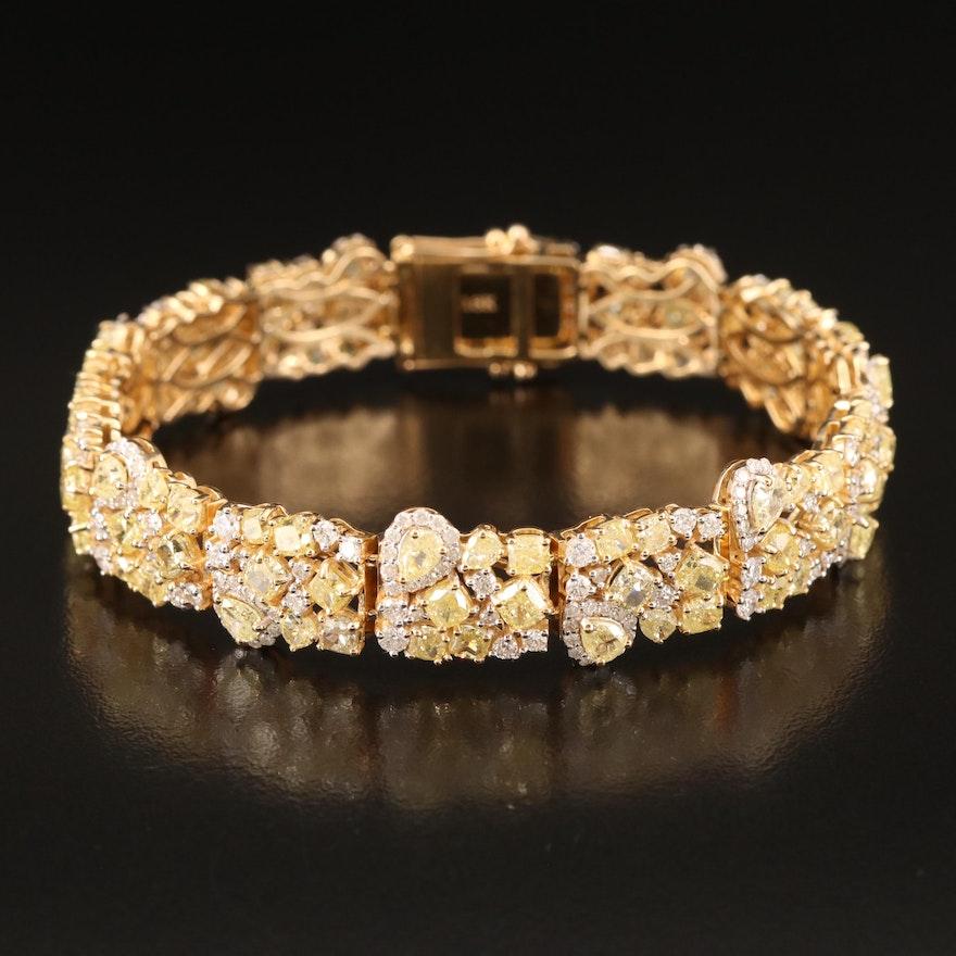 18K 21.02 CTW Diamond Bracelet with GIA Report