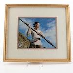 "Daisy Ridley ""Rey"" Signed ""Star Wars: The Last Jedi"" Photo Print, Beckett COA"