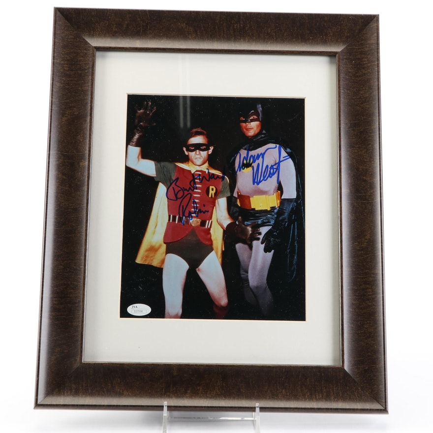 "Adam West and Burt Ward Signed ""Batman and Robin"" Signed Photo Print, JSA COA"