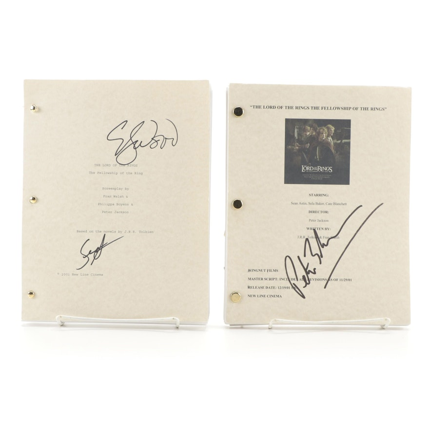 """""""The Lord of the Rings: The Fellowship of the Ring"""" Signed Movie Script Copies"""