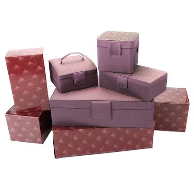 Rowallan Mauve Vanity Jewelry Boxes