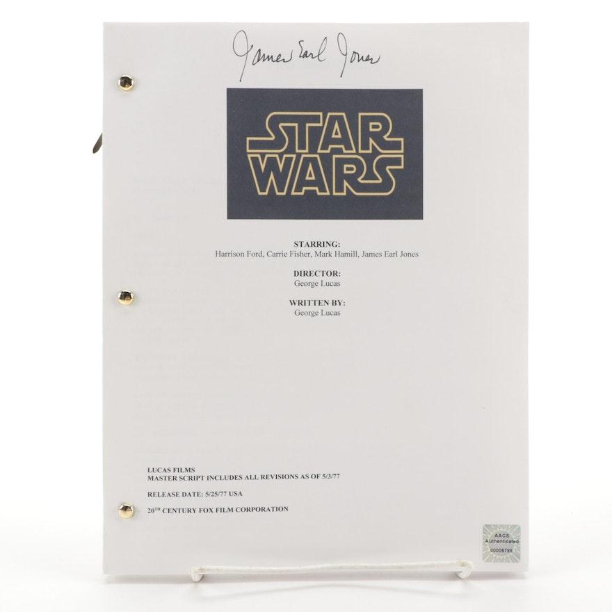 "James Earl Jones Signed ""Star Wars"" Movie Script Copy, COA"
