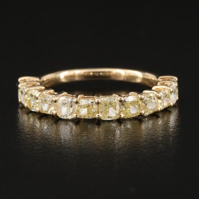 18K Fancy Yellow 1.96 CTW Diamond Ring