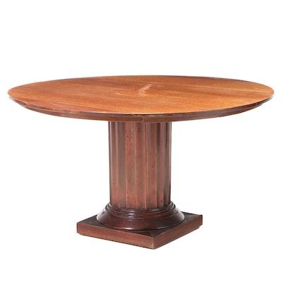 Mahogany Dining Table on Fluted Columnar Pedestal