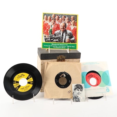 The Beatles, Frank Sinatra, ABBA, and More Record Singles with Carrying Case