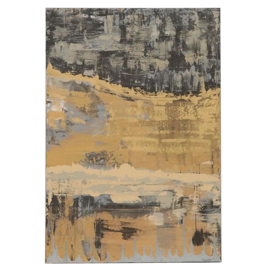 Evan Hildebrandt Abstract Acrylic Painting, 2021