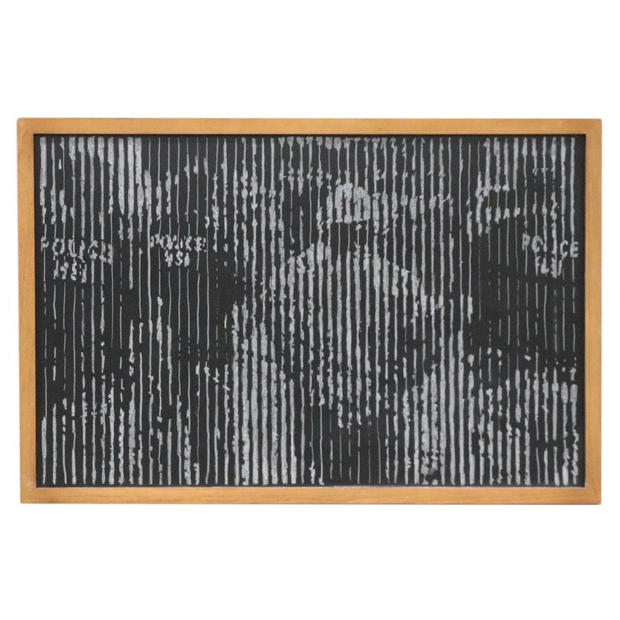 Harry Sanchez, Jr. Abstract Chalk Drawing, 2021