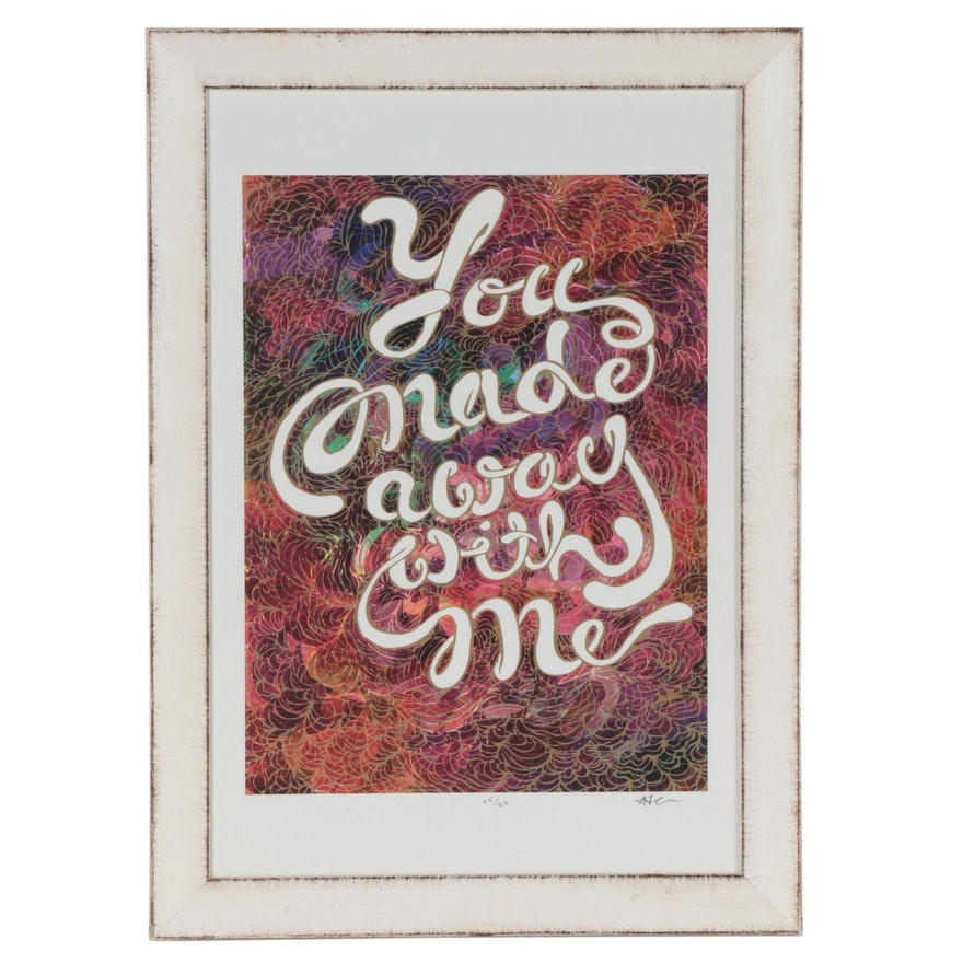 """Adam Laine Offset Lithograph From the ArtWorks CincyInk """"Ink Your Love"""" Project"""
