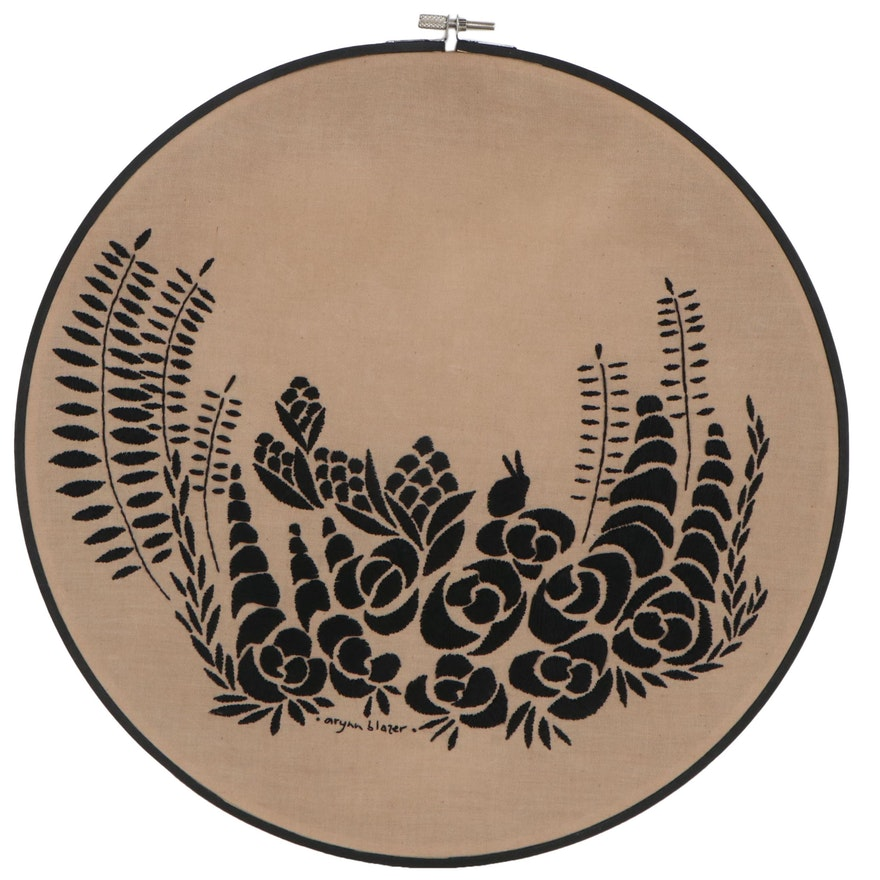Arynn Blazer Floral Embroidered Panel, 21st Century