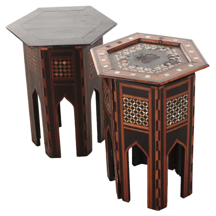 Syrian Moorish Style Inlaid Wood Tables