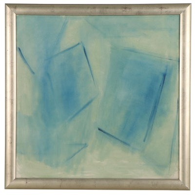 Abstract Monochrome Oil Painting, Late 20th Century