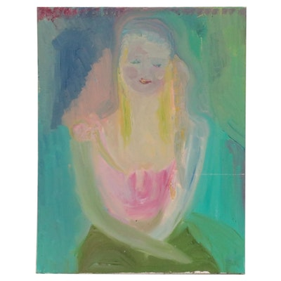 Laura Allgood Mixed Media Portrait, Circa 2000
