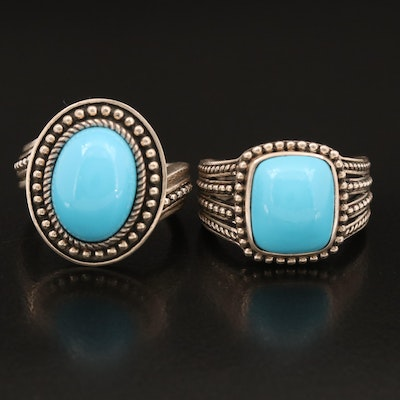 Sterling Silver Faux Turquoise Rings