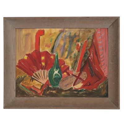 Mary Hafer Cook Still Life Oil Painting, Mid-20th Century