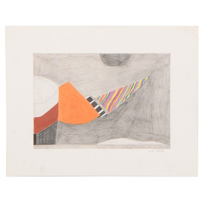 Lawton Orchard Abstract Colored Pencil and Graphite Drawing, 2013