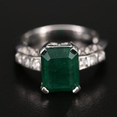 14K 2.83 Emerald and Diamond Ring