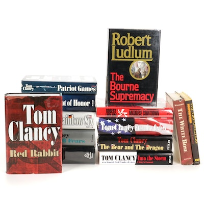 First Edition Novels by Tom Clancy, Robert Ludlum and More