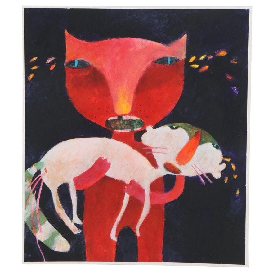 Sharareh Khosravani Acrylic Painting, 2021
