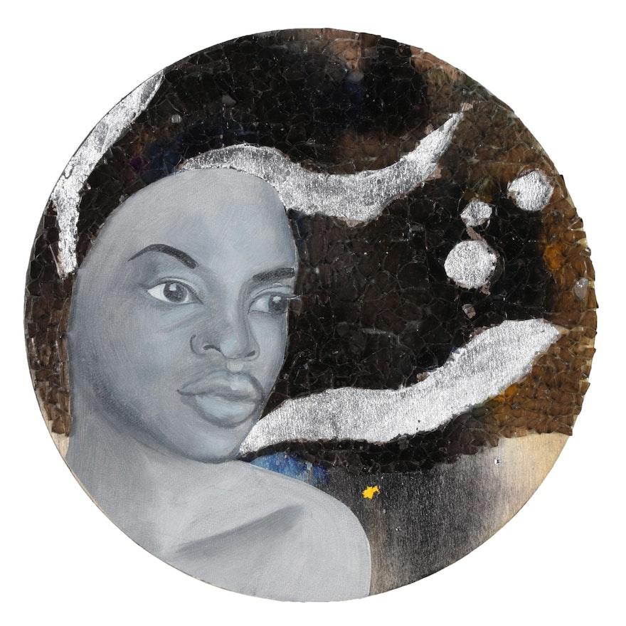 "April Sunami Mixed Media Painting ""Go Back & Get It II,"" 2019"