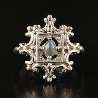 Sterling Silver Cat's Eye Alexandrite Ring