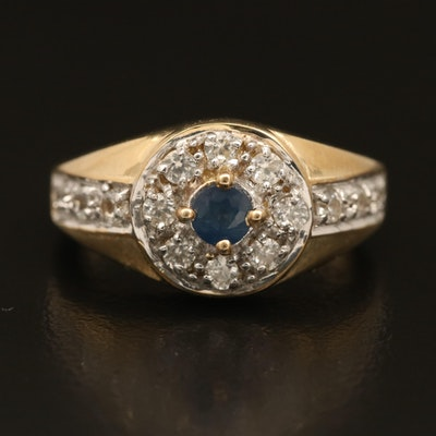 Sterling Sapphire and Topaz Ring