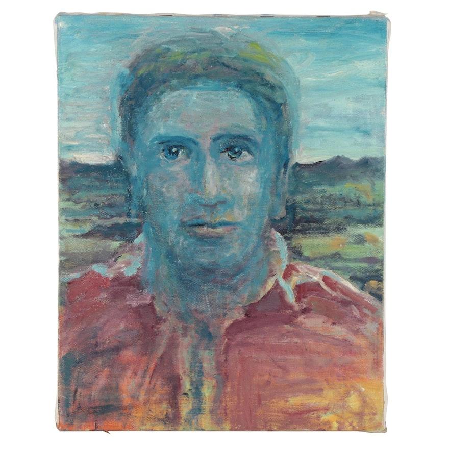 Jon Scharlock Portrait Oil Painting, Circa 2000
