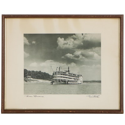 """Offset Lithograph After Paul Briol """"River Romance,"""" Late 20th Century"""