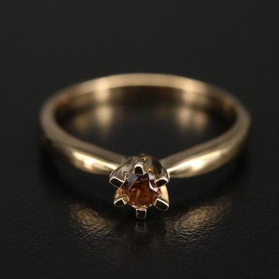 Sterling Smoky Quartz Ring