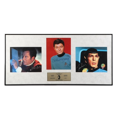"Shatner, Kelley and Nimoy Signed ""Star Trek"" Framed Limited Edition Display"