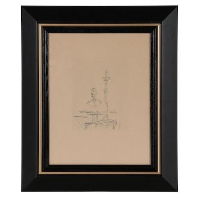 "Alberto Giacometti Restrike Etching ""The Search"""