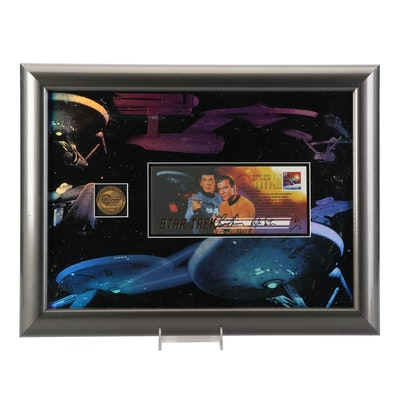 """Shatner and Nimoy Signed """"Star Trek"""" First Day Issue, U.S. Postal Service COA"""