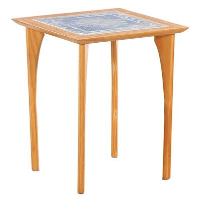 Beveled Edge Tile Top Side Table