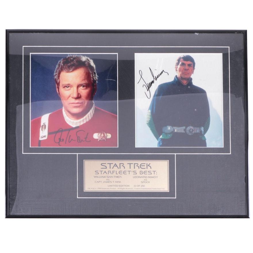 "William Shatner and Leonard Nimoy Signed ""Star Trek"" Display, Framed"