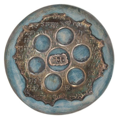 Domar Artists Ltd Metallic-Glazed Earthenware Seder Plate
