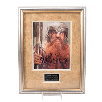 """John Rhys Davies Signed """"The Lord of the Rings"""" Movie Photo Print"""
