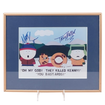 South Park Digital Print Autographed by Matt Stone and Trey Parker