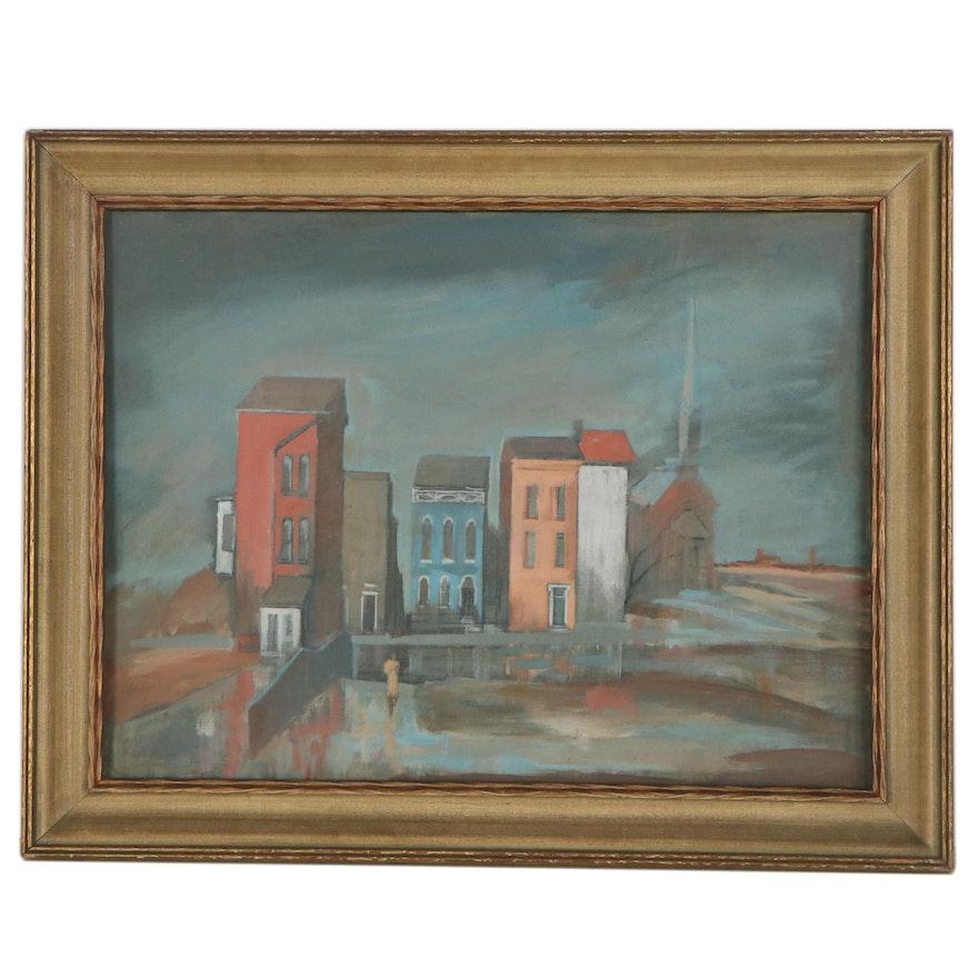 Urban Landscape Oil Painting