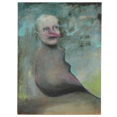 Elmer Ruff Surreal Portrait Oil Painting