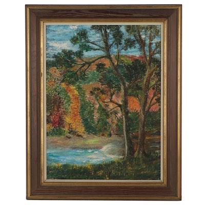 Landscape Oil Painting, 1965