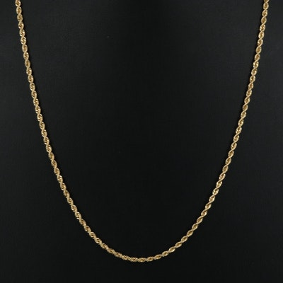 Italian 14K Rope Chain Necklace