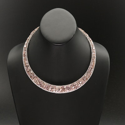 18K 63.08 CTW Diamond Necklace with GIA Report