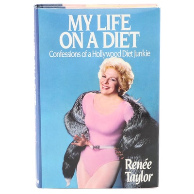 """Signed Second Printing """"My Life on a Diet"""" by Renée Taylor, 1986"""