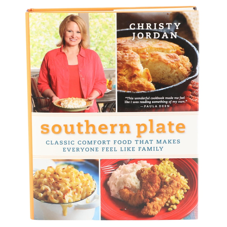 """Signed First Edition """"Southern Plate"""" by Christy Jordan, 2010"""