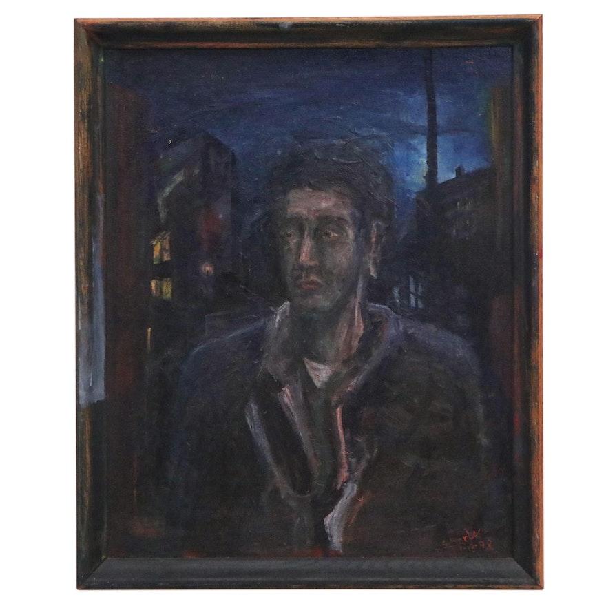 Jon Scharlock Portrait Oil Painting, 1998
